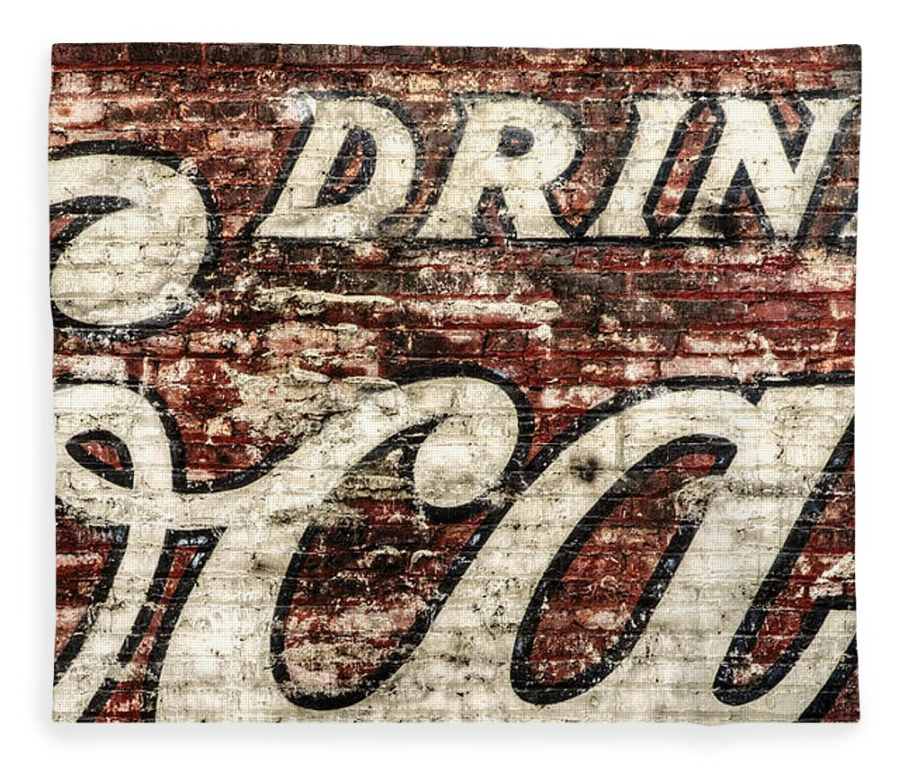 Red Fleece Blanket featuring the photograph Drink Coca-cola 2 by Scott Norris
