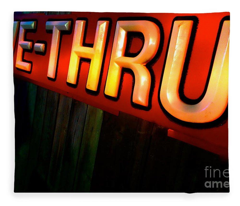 Drive Thru Fleece Blanket featuring the photograph Drive Thru by Jacqueline Athmann
