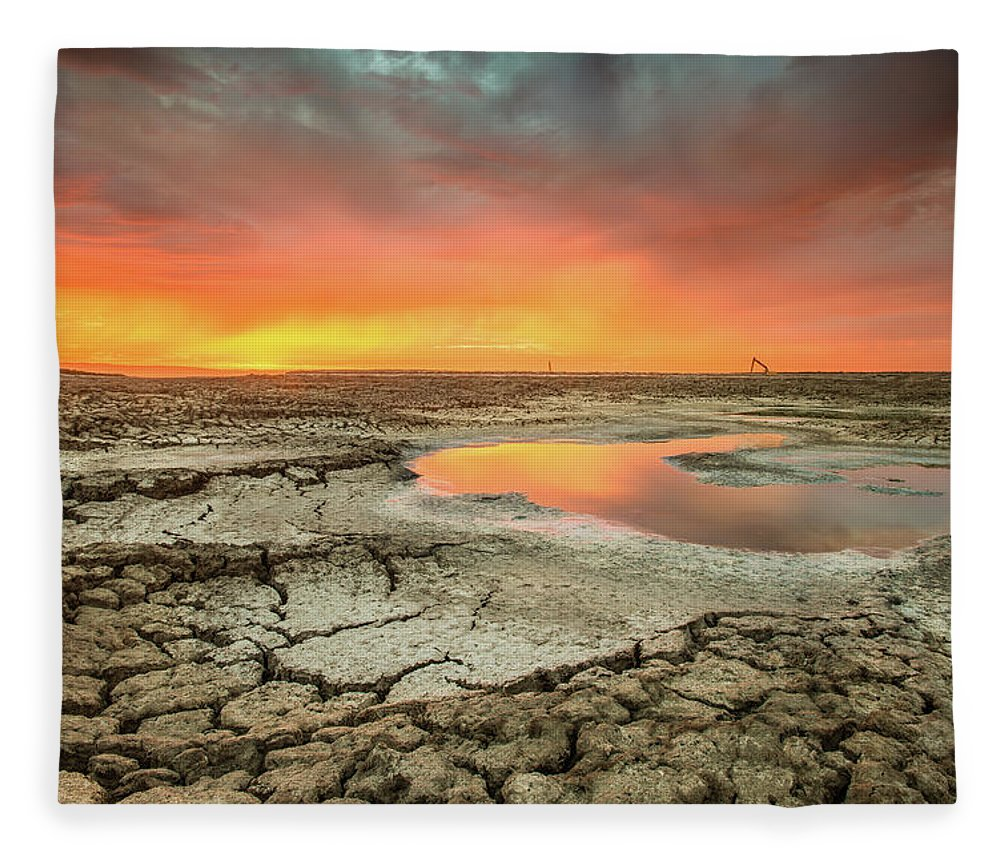 Tranquility Fleece Blanket featuring the photograph Droughts Bane by Aaron Meyers