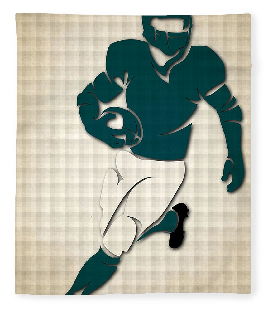 Eagles Fleece Blanket featuring the photograph Eagles Shadow Player by Joe Hamilton