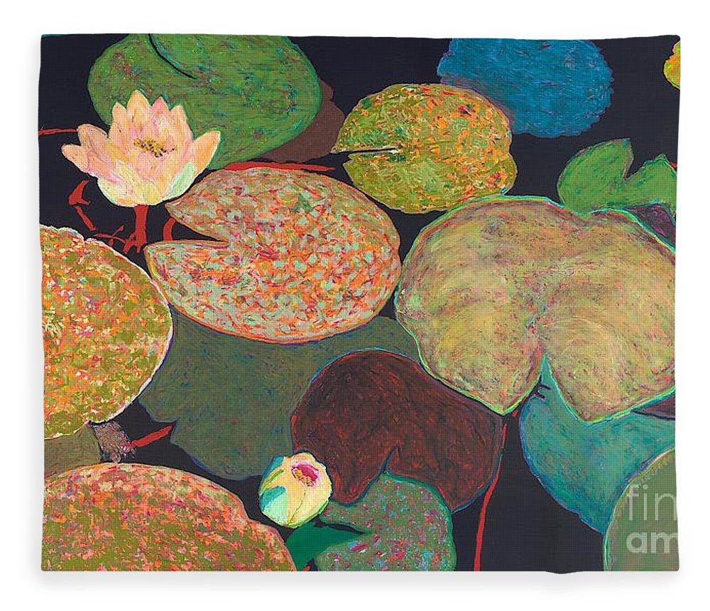 Landscape Fleece Blanket featuring the painting Early Mist by Allan P Friedlander