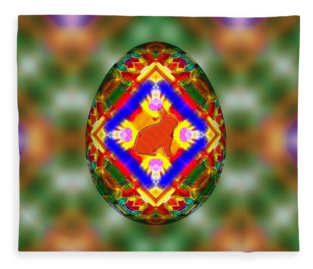 Easter Egg 3d Fleece Blanket featuring the digital art Easter Egg 3d by Carlos Vieira