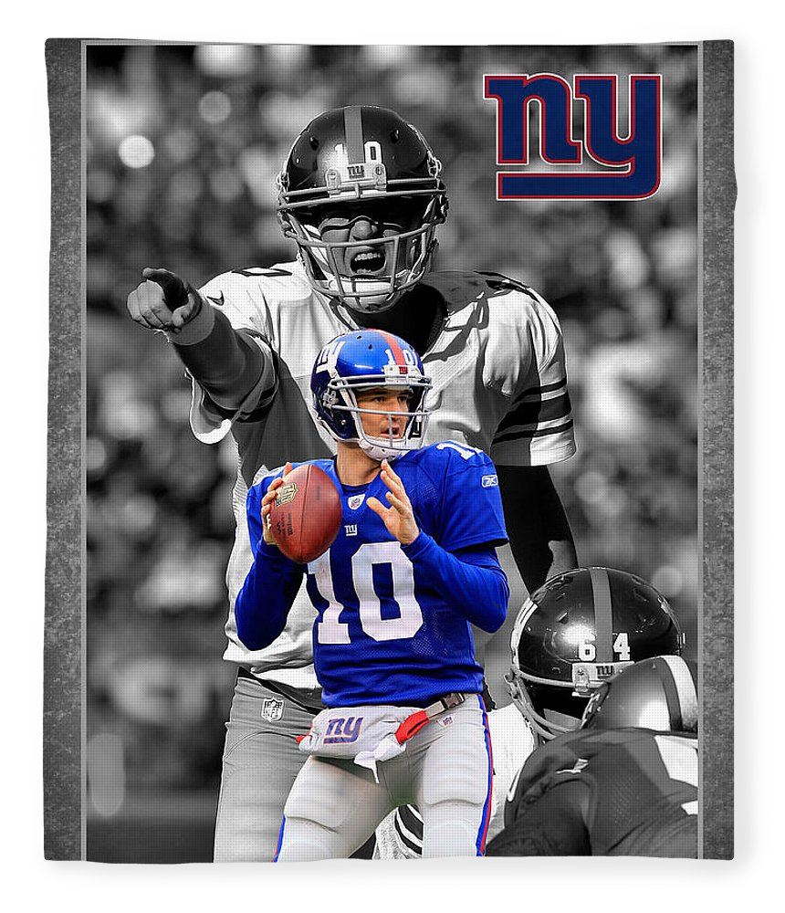 Eli Manning Fleece Blanket featuring the photograph Eli Manning Giants by Joe Hamilton
