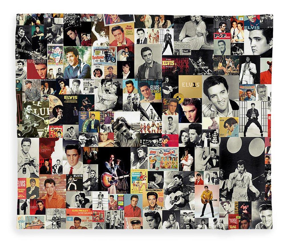 Elvis Presley Fleece Blanket featuring the digital art Elvis The King by Zapista OU