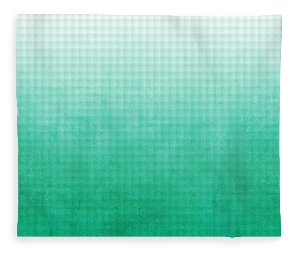 Abstract Fleece Blanket featuring the mixed media Emerald Bay by Linda Woods