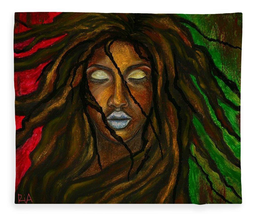Beautiful Fleece Blanket featuring the photograph Empress Divine by Artist RiA