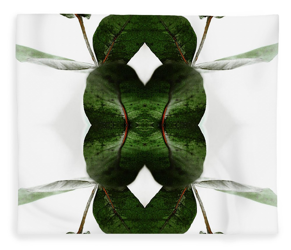 Tranquility Fleece Blanket featuring the photograph Eucalyptus Leaves by Silvia Otte