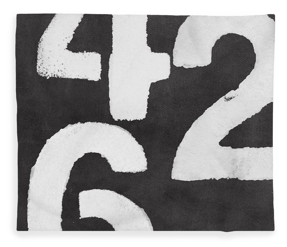 Even Numbers Fleece Blanket featuring the painting Even Numbers by Linda Woods
