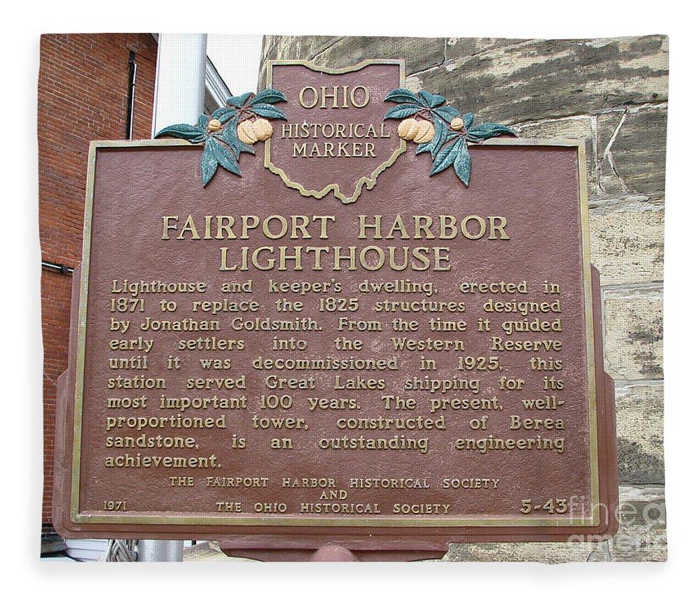 Lighthouses Fleece Blanket featuring the photograph Fairport Harbor Lighthouse by Michael Krek