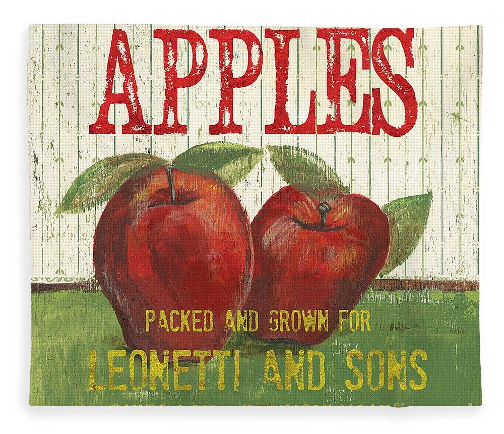 Food Fleece Blanket featuring the painting Farm Fresh Fruit 3 by Debbie DeWitt