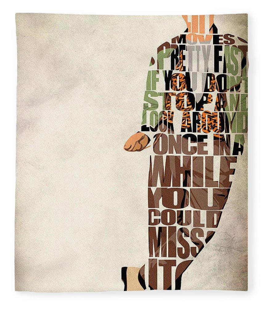 Ferris Bueller Fleece Blanket featuring the digital art Ferris Bueller's Day Off by Inspirowl Design