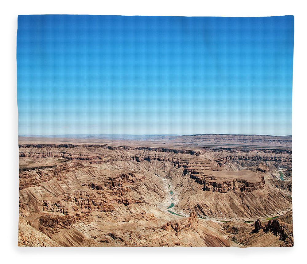 Extreme Terrain Fleece Blanket featuring the photograph Fish River Canyon, Namibia by Shaun