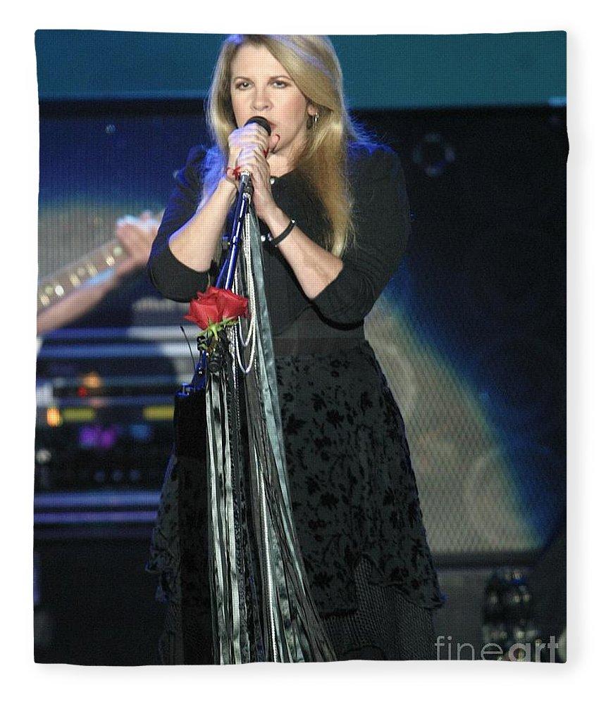 Pop Rock Fleece Blanket featuring the photograph Fleetwood Mac by Concert Photos