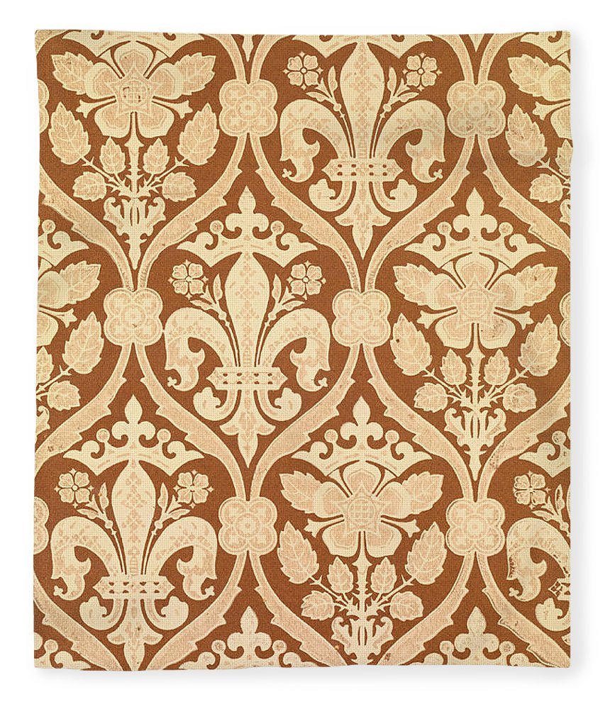 Fleur-de-lis Fleece Blanket for Sale by Augustus Welby Pugin