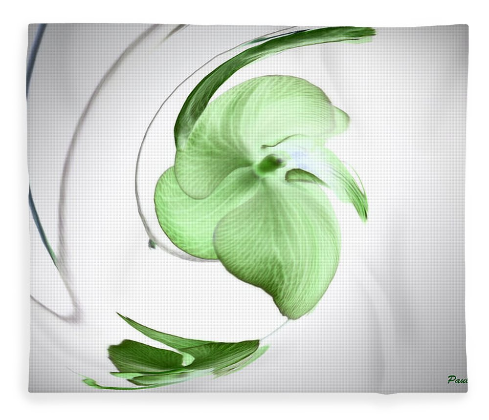 Abstract Phototgraphy Fleece Blanket featuring the photograph Floral Abstract by Paulina Roybal