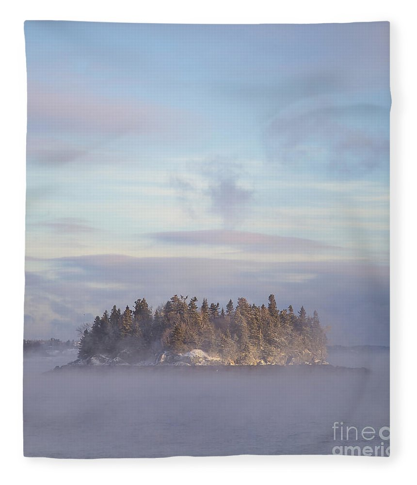 Fog Fleece Blanket featuring the photograph Fogscape by Evelina Kremsdorf