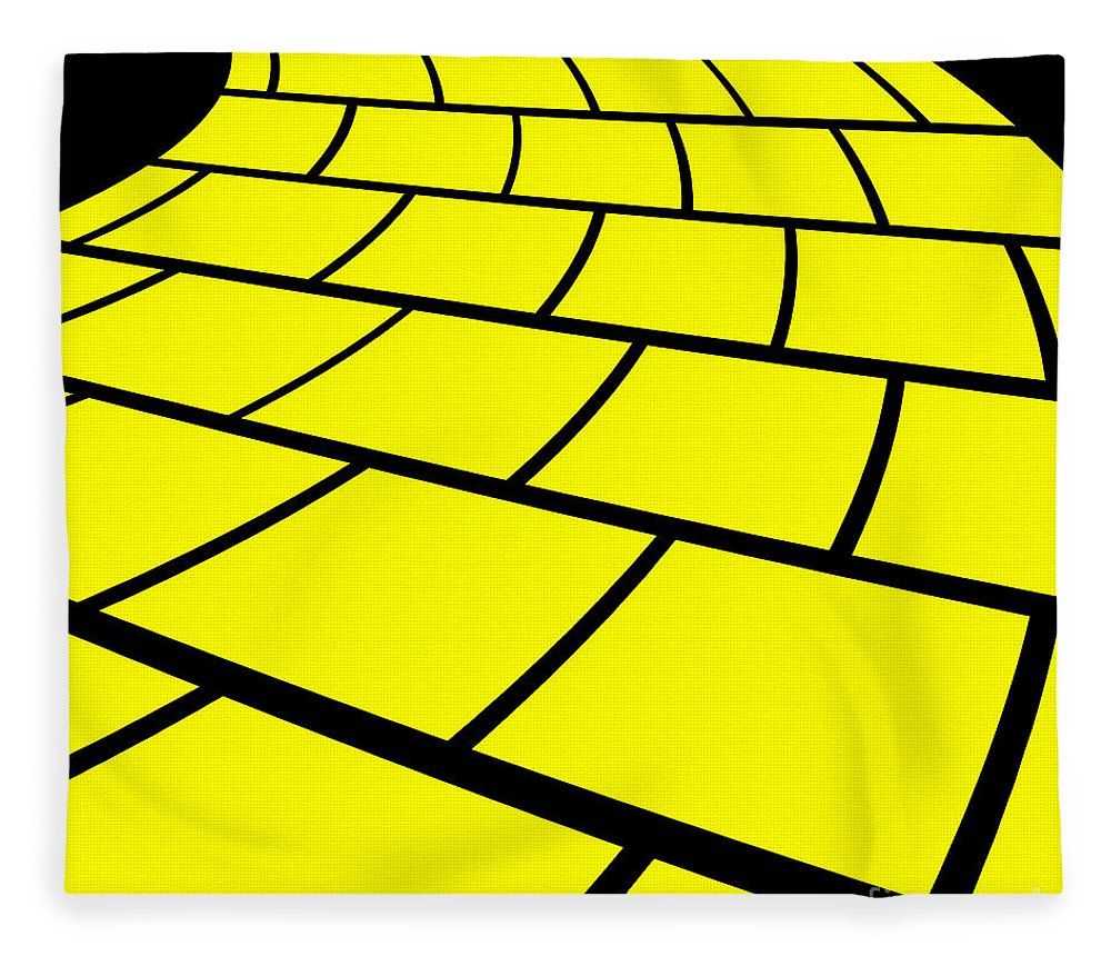 follow the yellow brick road fleece blanket for sale by andee design