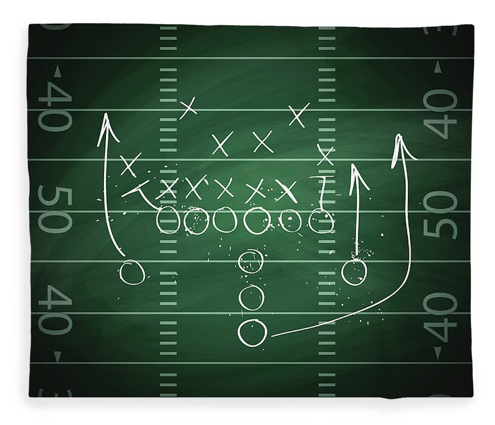 Plan Fleece Blanket featuring the digital art Football Play by Traffic analyzer