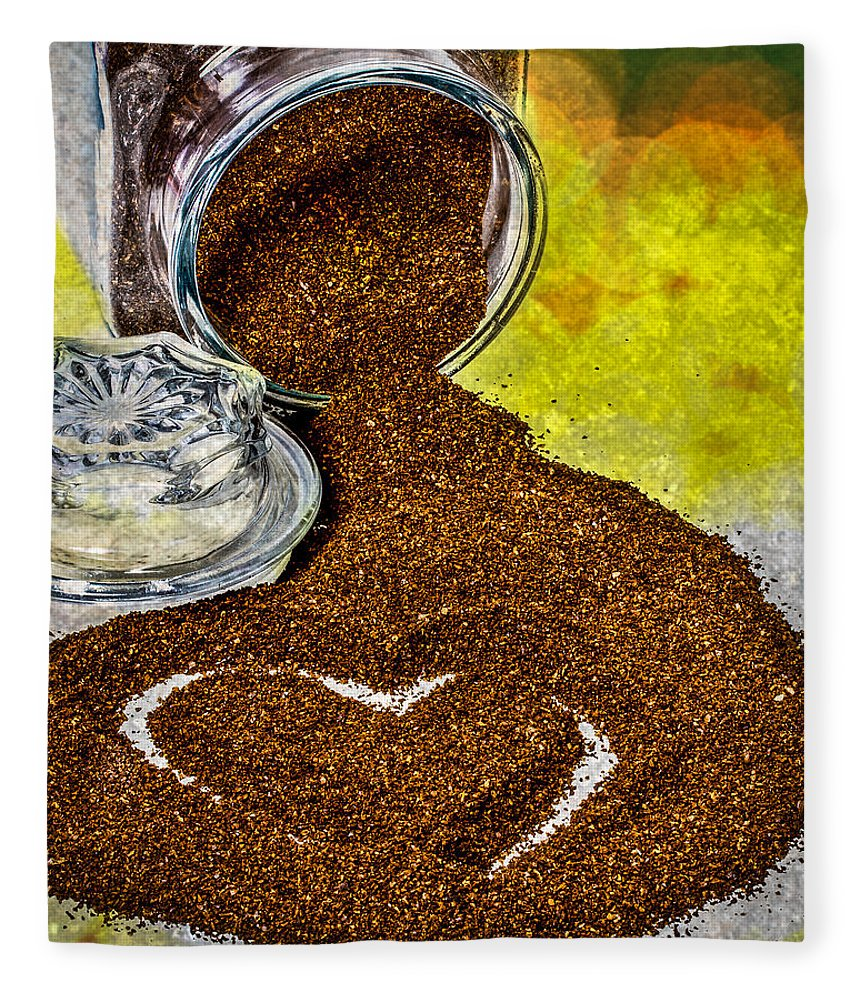 Coffee Fleece Blanket featuring the photograph For The Love Of Coffee by Bob Orsillo