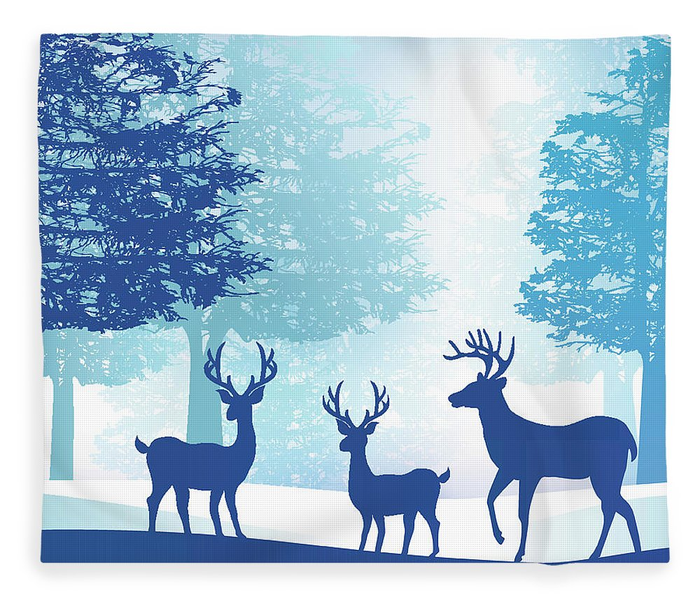 Holiday Fleece Blanket featuring the digital art Forest by Adyna