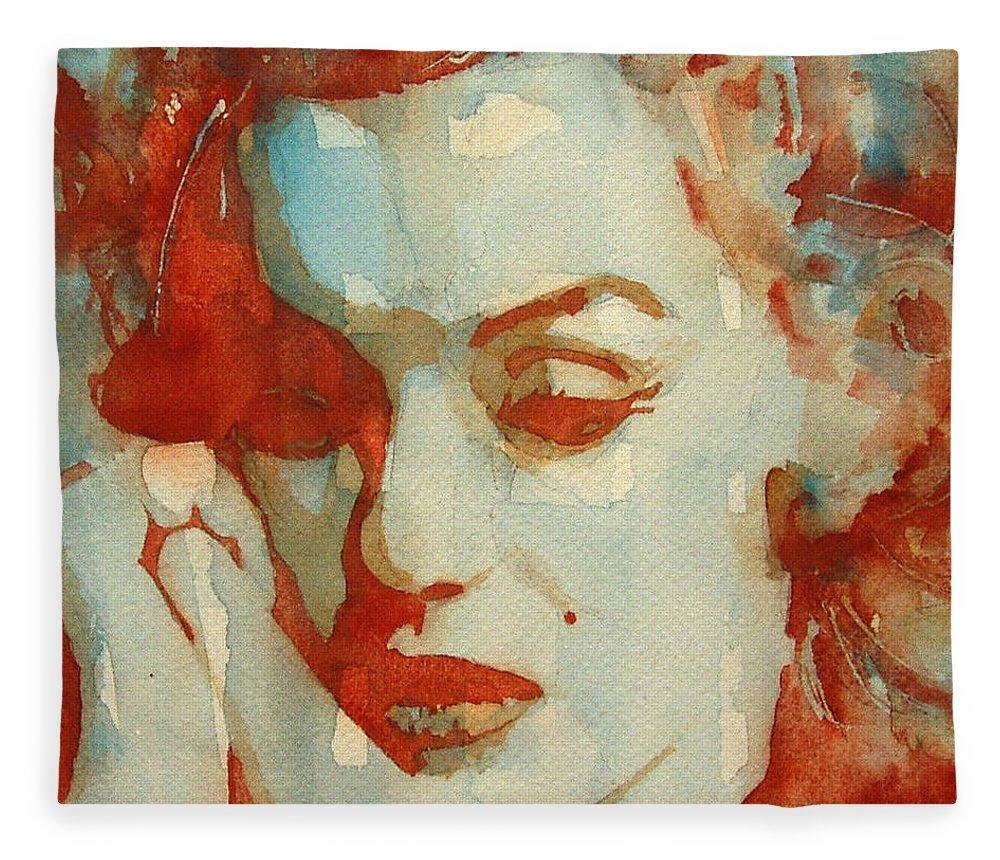 Marilyn Monroe Fleece Blanket featuring the painting Fragile by Paul Lovering