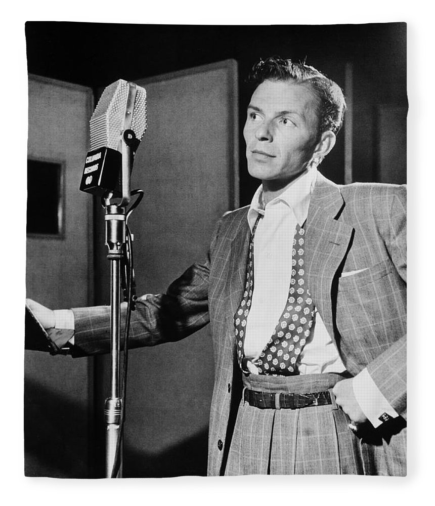 Frank Sinatra Fleece Blanket featuring the photograph Frank Sinatra by Mountain Dreams