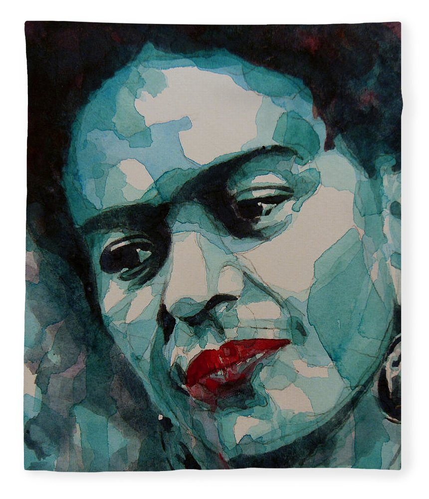 Frida Fleece Blanket featuring the painting Frida Kahlo by Paul Lovering