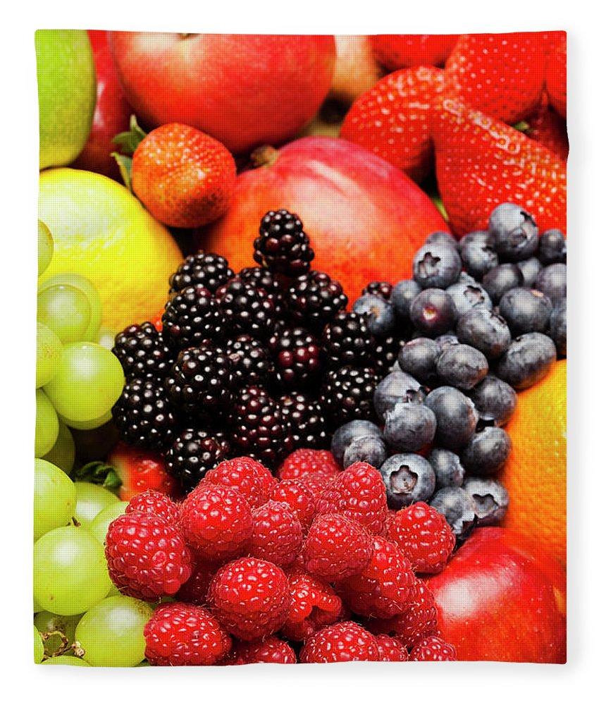 Heap Fleece Blanket featuring the photograph Fruit by Aluxum