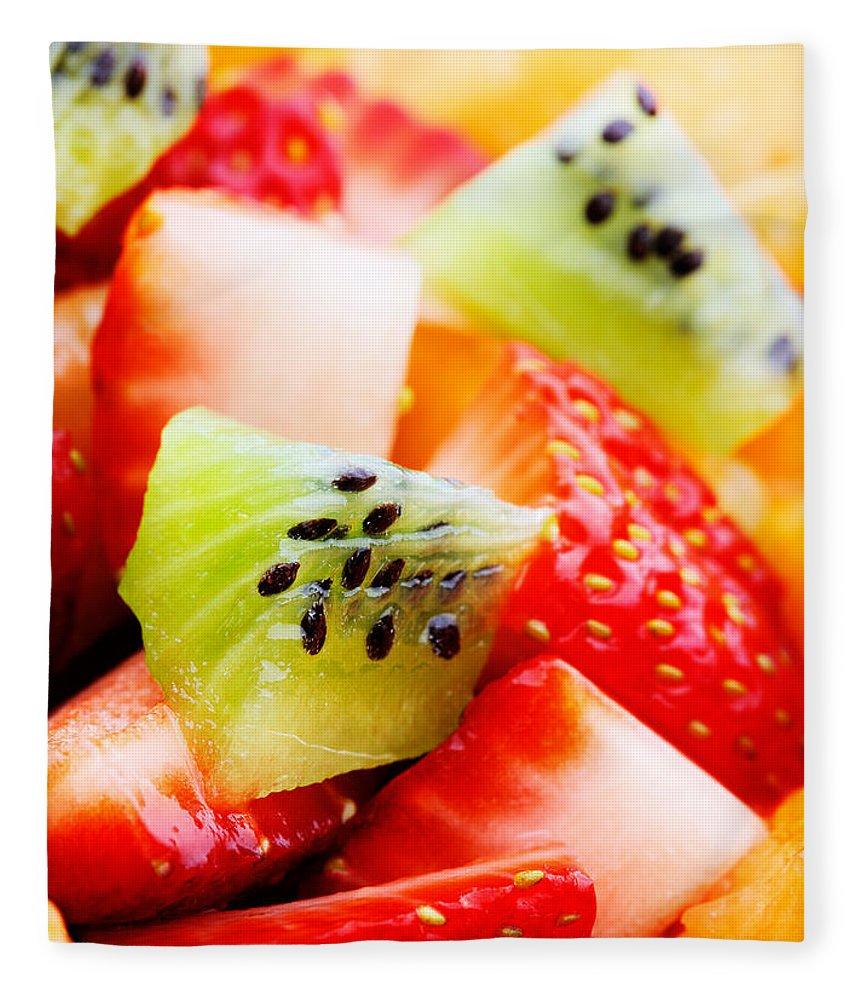 Fruit Fleece Blanket featuring the photograph Fruit Salad Macro by Johan Swanepoel