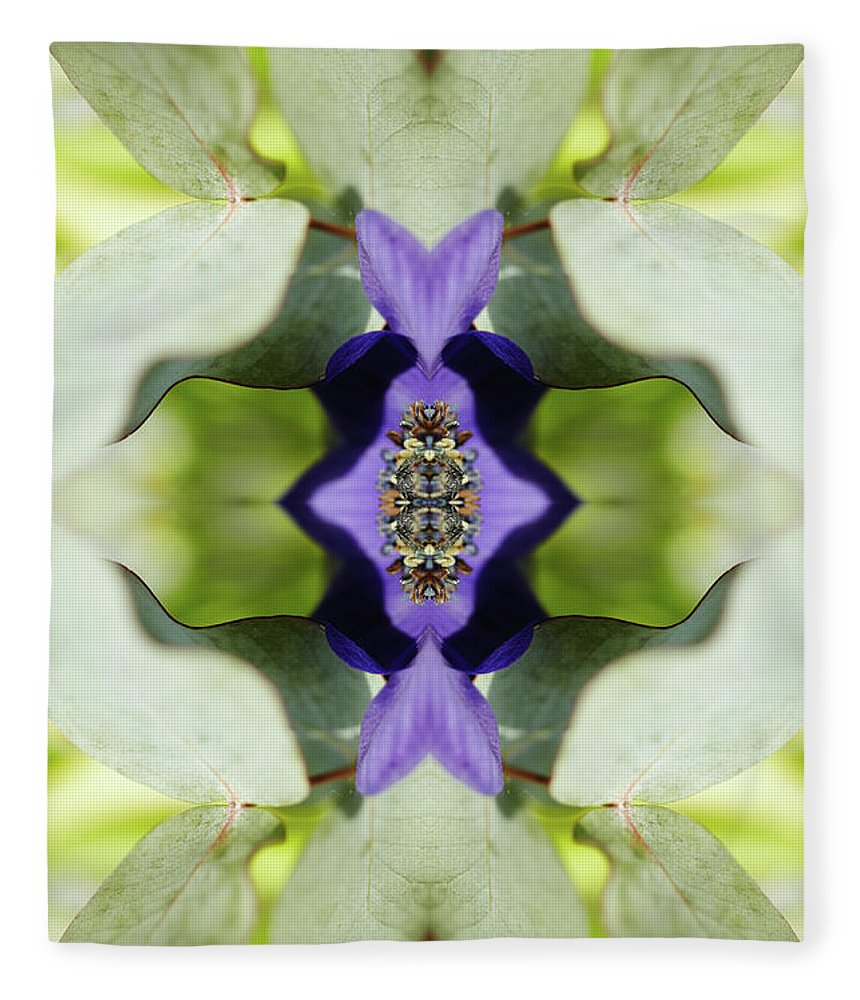 Tranquility Fleece Blanket featuring the photograph Gerbera Flower by Silvia Otte
