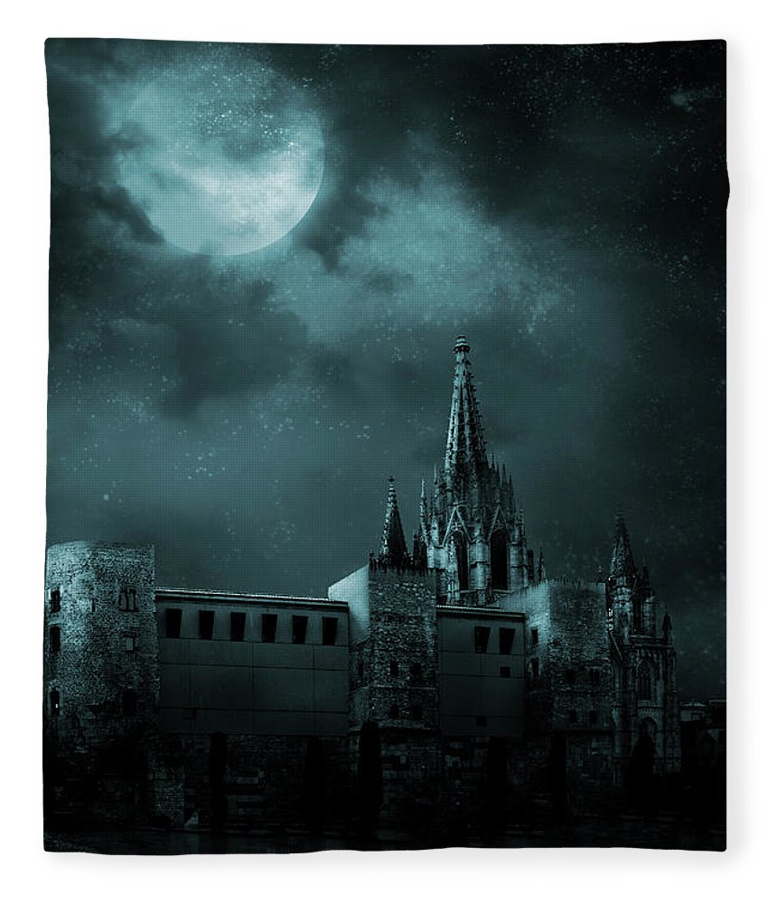 Gothic Style Fleece Blanket featuring the photograph Ghosts In The Empty Town by Vladgans