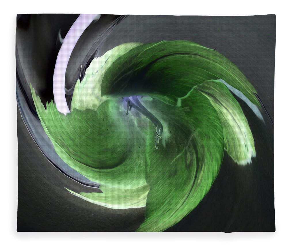 Abstract Phototgraphy Fleece Blanket featuring the photograph Gladiolus Abstract by Paulina Roybal