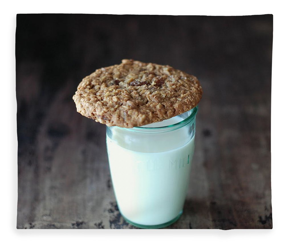 Milk Fleece Blanket featuring the photograph Glass Of Milk by Shawna Lemay