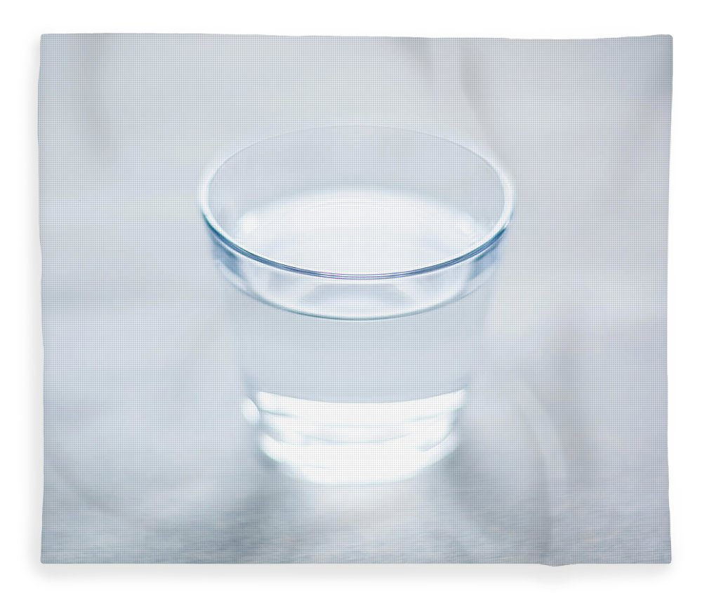White Background Fleece Blanket featuring the photograph Glass Of Water by Steven Errico