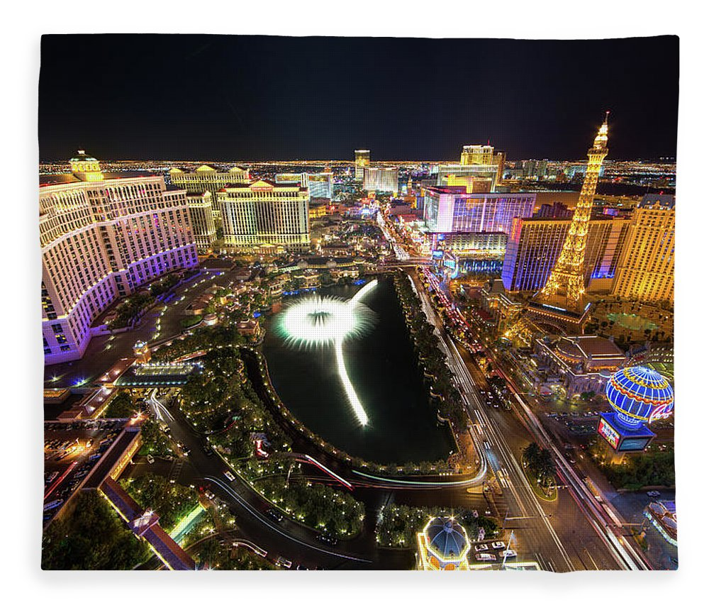Built Structure Fleece Blanket featuring the photograph Glowing Night by Eric Lo