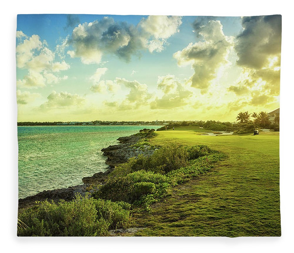 Scenics Fleece Blanket featuring the photograph Golf Course by Chang
