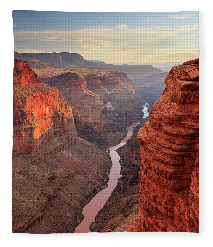 Tranquility Fleece Blanket featuring the photograph Grand Canyon National Park by Michele Falzone