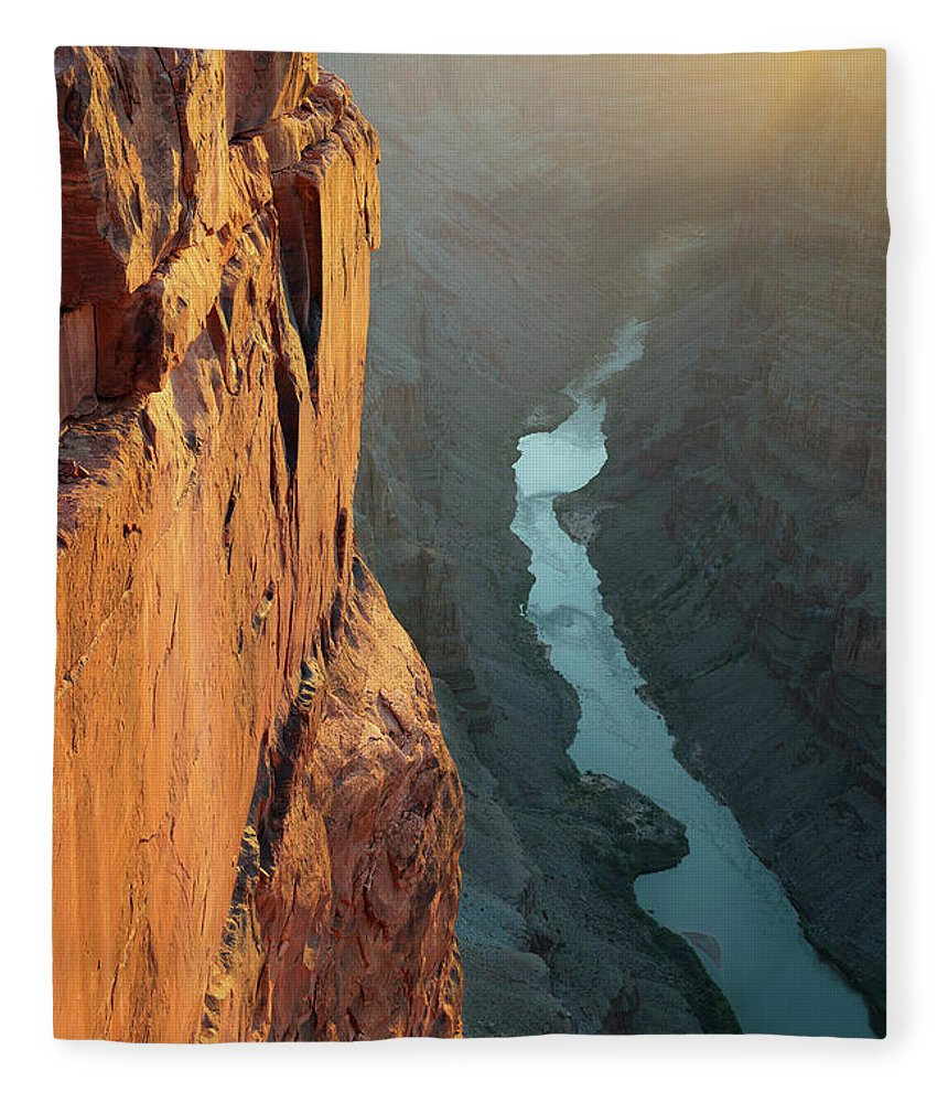 Scenics Fleece Blanket featuring the photograph Grand Canyon Toroweap Point Morning by Kjschoen