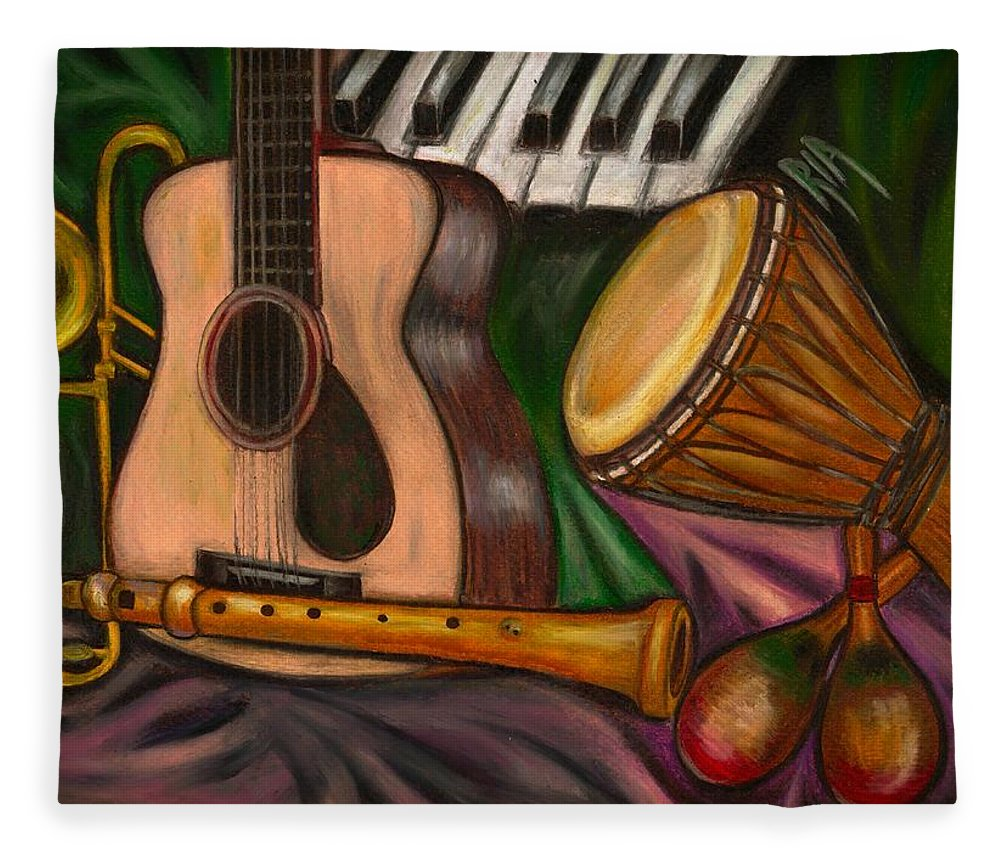 Music Fleece Blanket featuring the photograph Grand POP by Artist RiA
