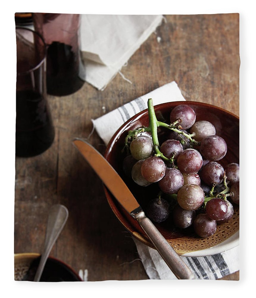 Spoon Fleece Blanket featuring the photograph Grape by 200