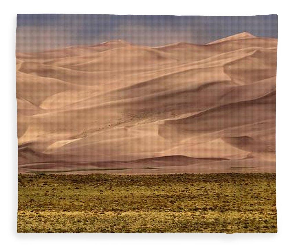 Great Sand Dunes In Colorado Fleece Blanket featuring the photograph Great Sand Dunes In Colorado by Dan Sproul