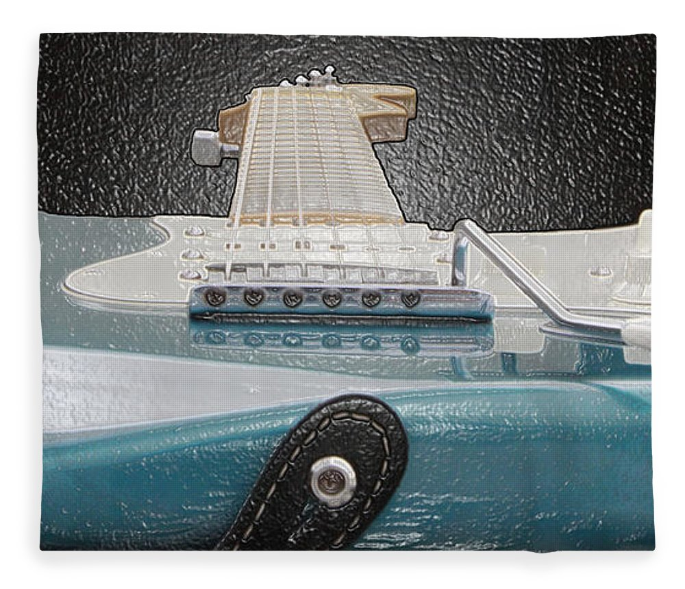 Guitar Fleece Blanket featuring the photograph Guitar Art by Shoal Hollingsworth