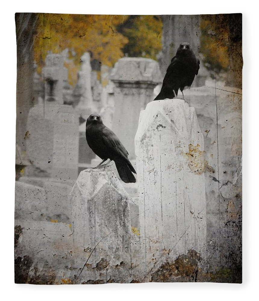 Fall Fleece Blanket featuring the photograph Halloween Is In The Autumn Air by Gothicrow Images