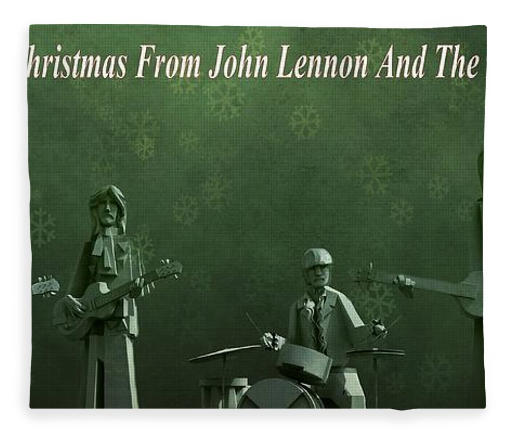 Happy Christmas From John Lennon Fleece Blanket featuring the photograph Happy Christmas From John Lennon by Dan Sproul