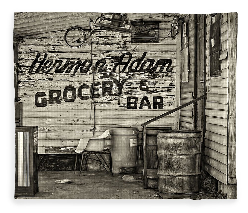 New Orleans Fleece Blanket featuring the photograph Herman Had It All - Sepia by Steve Harrington