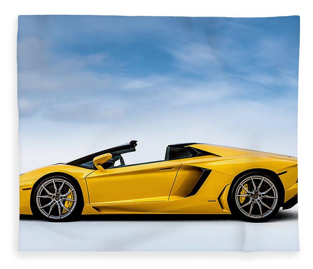 Lamborghini Fleece Blanket featuring the digital art Highlife by Douglas Pittman