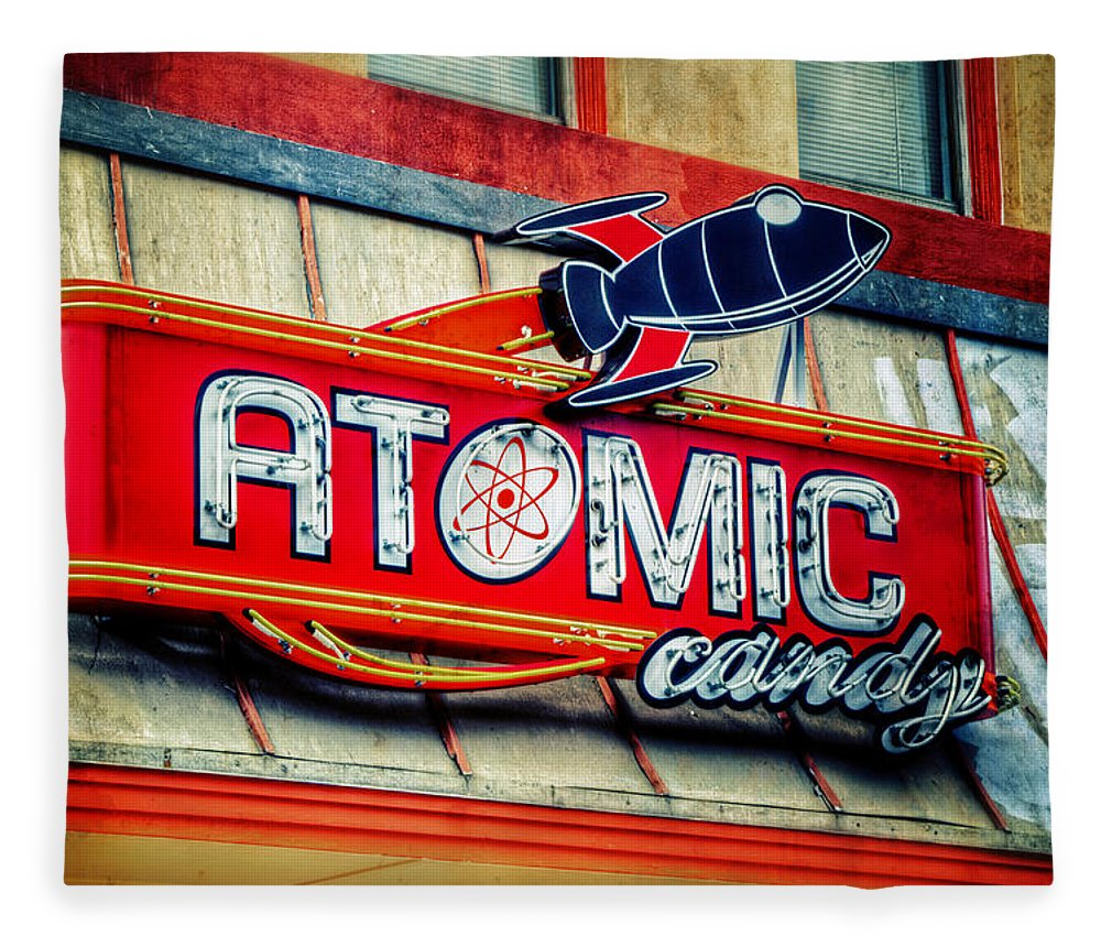 Atomic Fleece Blanket featuring the photograph Hot Stuff by Joan Carroll