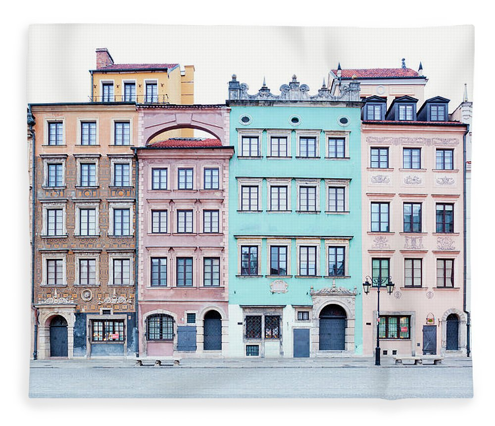 Apartment Fleece Blanket featuring the photograph Houses On Old Town Market Place by Jorg Greuel