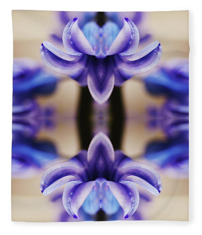 Purple Fleece Blanket featuring the photograph Hyazinth by Silvia Otte