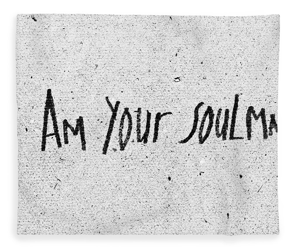 Abstract Fleece Blanket featuring the photograph I Am Your Soulmate by Tom Gowanlock